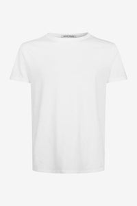 Classic white crew-neck in cotton