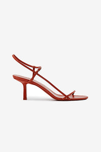 The Row Bare Sandal Brick Red Rød