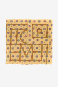 Yellow print scarf from Toteme