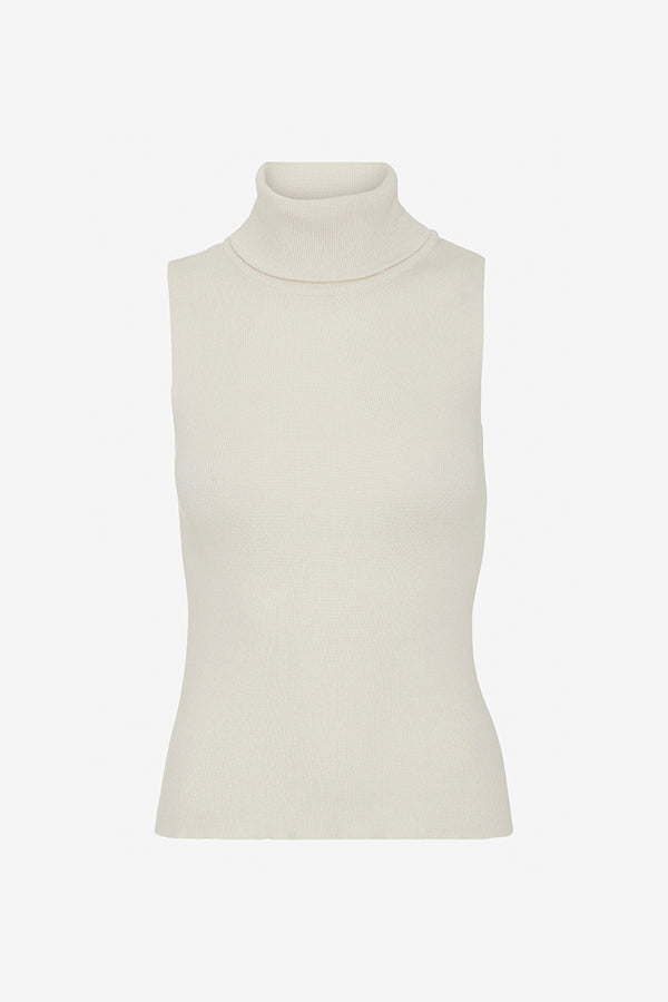 Remain white roll neck top