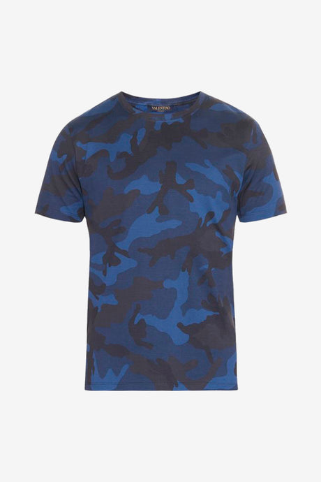 dark blue camouflage t-shirt