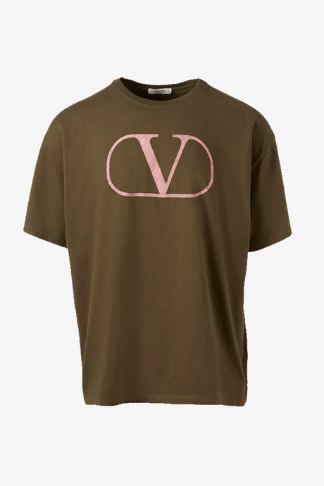 V-Logo army t-shirt Valentino short sleeves