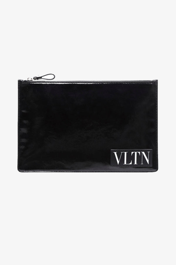 Black logo pouch from Valentino