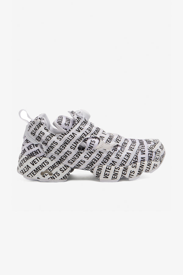 Vetements x Reebob Monogram Instapump Fury Sneaker