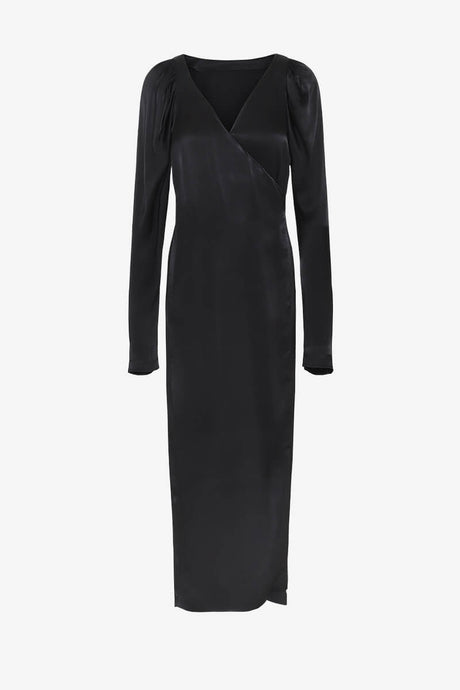 Rotate Birger Christensen Black wrap dress
