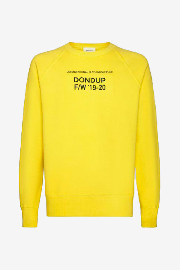 Sweatshirt in yellow with long raglan sleeves, and front graphic.