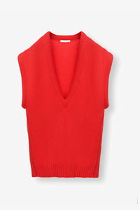 Sleeveless Cashmere Top