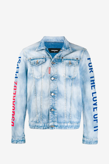 Dsquared2 X Pepsi Dan Jean Jacket with logo print on the back