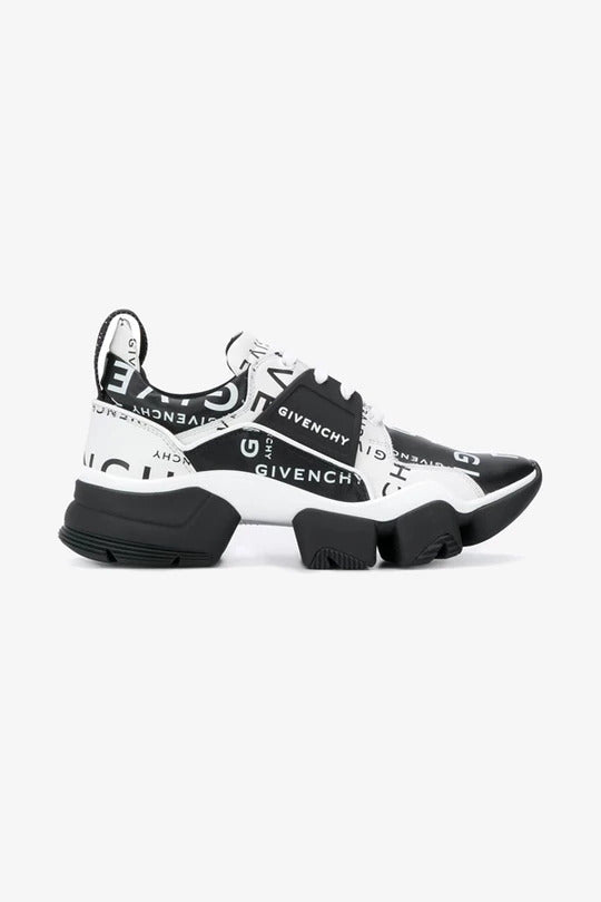 Black and white printet sneakers