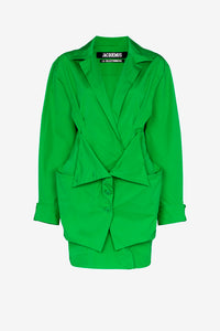 Murano shirt dress in green from Jacquemus