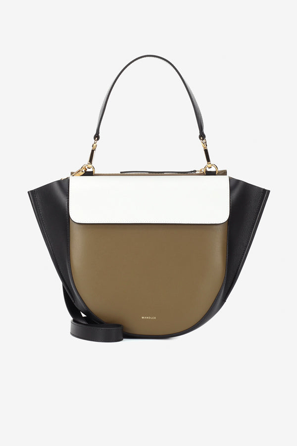 Brown, white, black bag