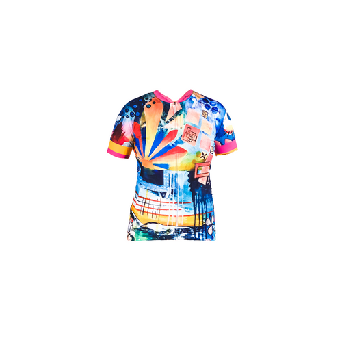 rising womens short sleeve cycling jersey