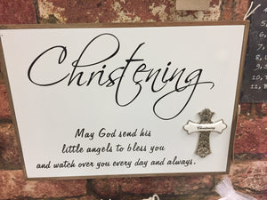 """Christening"" Wall Sign Plaque Wall Art"