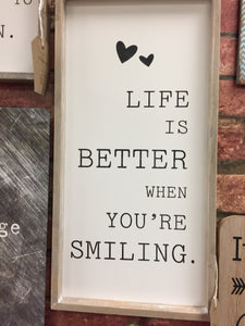 """Life is Better"" Wall Sign Plaque Wall Art"