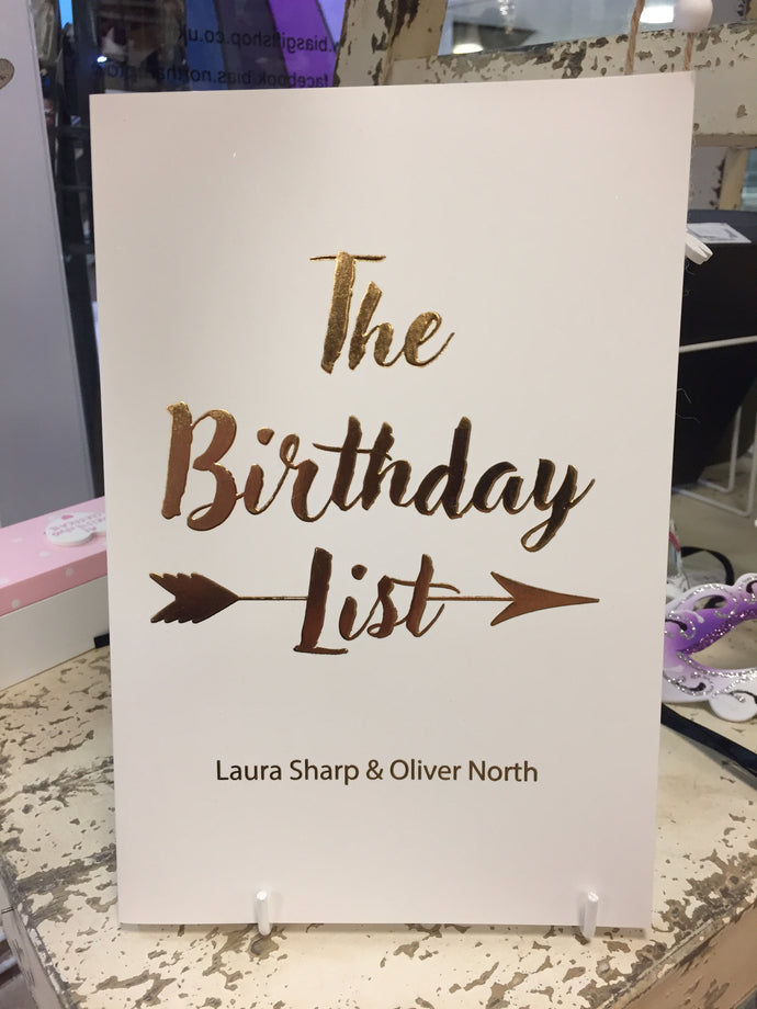 The Birthday List [Book]