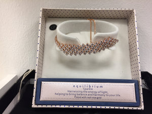 Ladies Plated with Real Rose Gold Tennis Bracelet for Women
