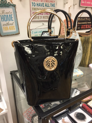 Glamorous Black Purse Handbag with Strap