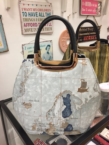 World Map Vintage Tote Bag