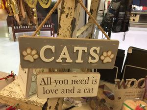 """Cats"" Wall Sign Plaque Wall Art"