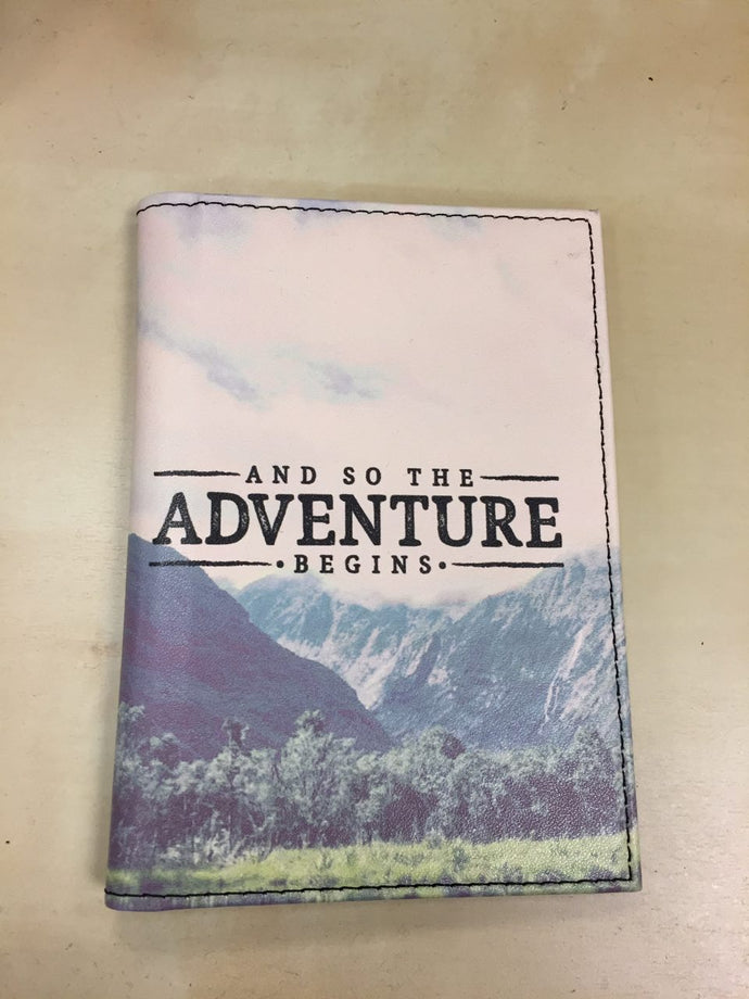 Passport Holder - And so the Adventure Begins ...