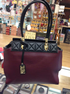 Black and Burgundy Women's Bag - Bessie