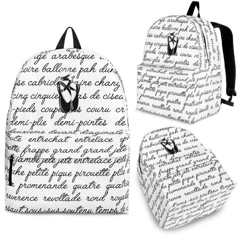 Ballet Terms Backpack