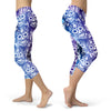 Image of Blue and Purple Sugar Skulls Capris