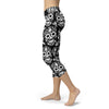 Image of Black and White Sugar Skull Capris