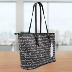 Ballet Terms Leather Tote