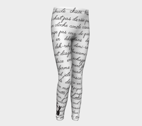 Ballet Terms Youth Leggings