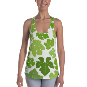 WOMEN'S RACERBACK TANK GREEN LEAF