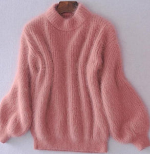 Warm Mohair Turtleneck Sweater