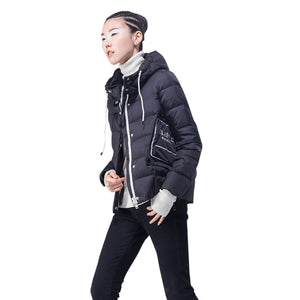 ULTRA LIGHT DOWN JACKET HOODED COAT SHORT PARKA