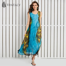 SLEEVELESS MAXI DRESS CHIFFON PULLOVER