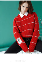 LONG SLEEVE SWEATER CREW NECK PULLOVER