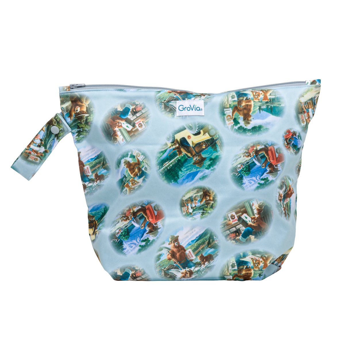 Laundry GroVia Zippered Wetbag - Bear In Mind