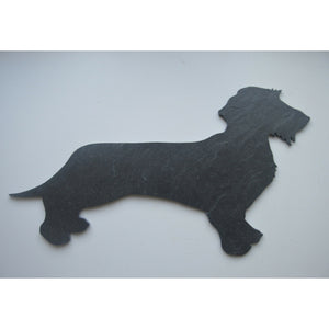 Slated - Beautiful Designs in Slate :: Dachshund (wire)