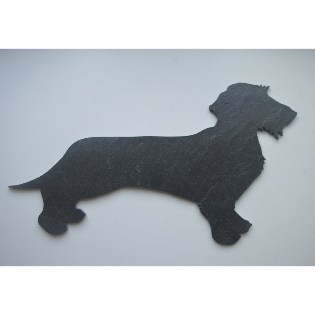 Slated - Beautiful Designs in Slate :: Dachshund (wire) - Dixie Doodles Pet Shop