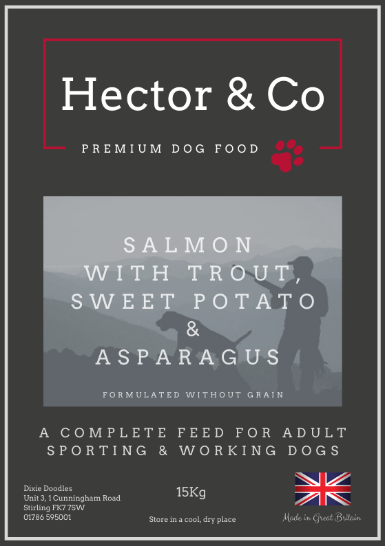 Hector & Co Salmon with Trout, Sweet Potato & Asparagus - Dixie Doodles Pet Shop