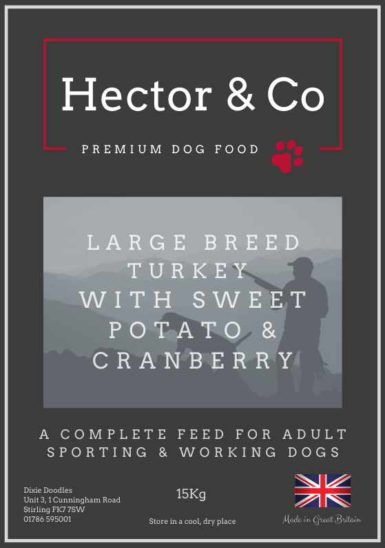 Hector & Co Large Breed Turkey with Sweet Potato & Cranberry - Dixie Doodles Pet Shop
