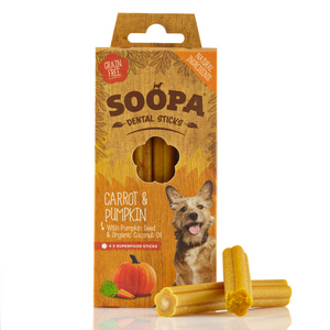 Soopa Carrot & Pumpkin Dental Sticks - Dixie Doodles Pet Shop