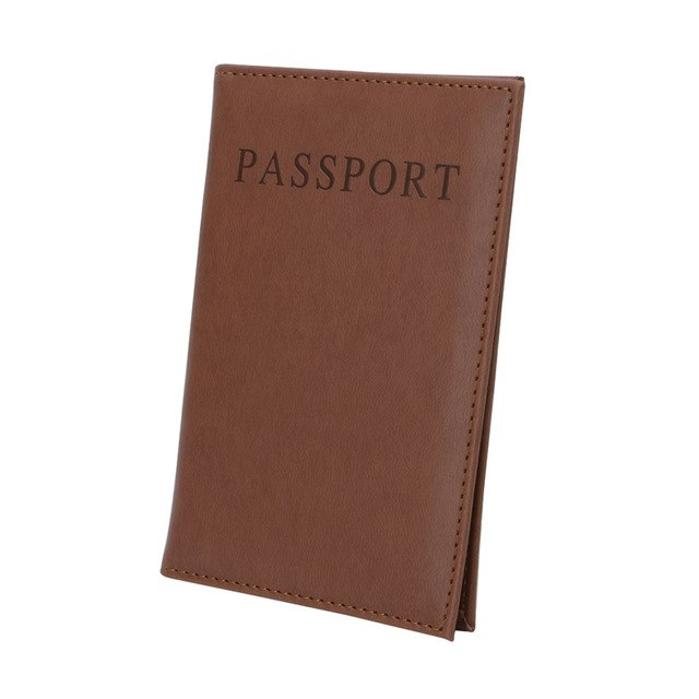 THINKTHENDO Hot Selling Faux Leather Travel Passport ID Holder Cover Unisex Card Case Man Cards Holder