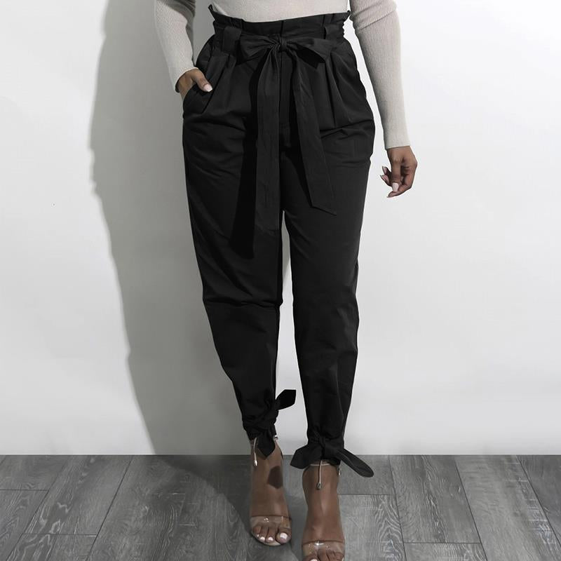 OL High Waist Harem Pants Women Stringy Selvedge Casual Pants Female 2017 Femme Trousers WS4769C