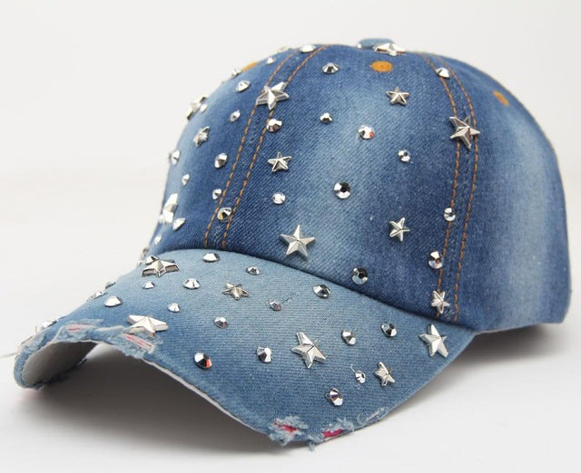 Shiny Star Studded Cap