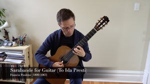 Sarabande for Guitar by Francis Poulenc (Sheet Music & Video)
