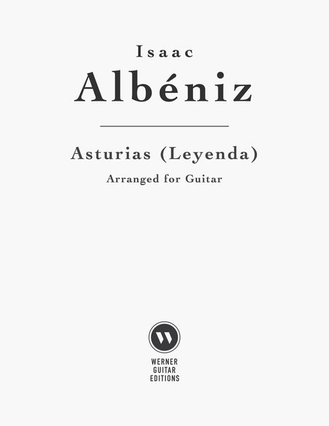 Asturias (Leyenda) by Albeniz for Guitar (PDF)