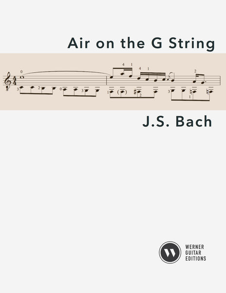 Air on the G String by Bach for Guitar