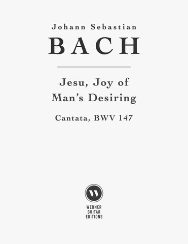 Jesu, Joy of Man's Desiring by Bach for Guitar