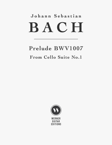 Prelude Cello Suite BWV 1007 for Guitar (PDF)
