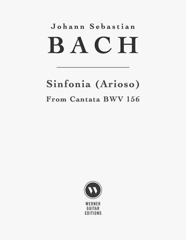 Sinfonia (Arioso) from BWV 156 by Bach